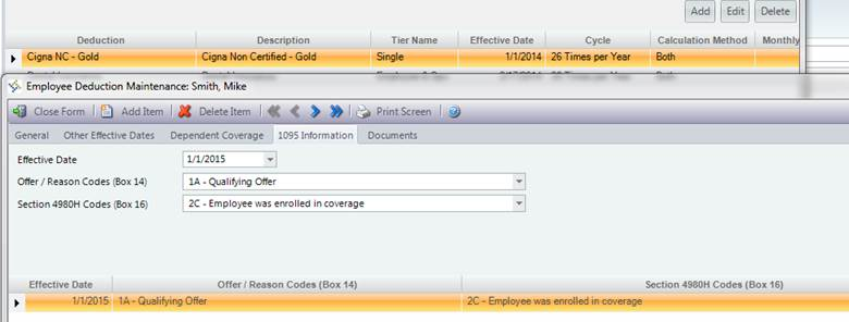 Examples - Employee Record Configurations for ACA Reporting